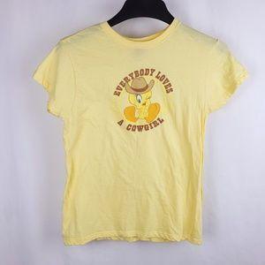VTG Looney Tunes Tweety Cowgirl Shirt